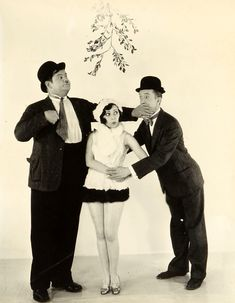 Christmas is coming. Laurel and Hardy