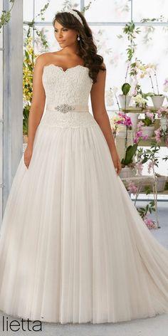 Mori Lee Plus Size Wedding Dress 3193