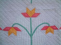 Vintage antique  hand made quilt or wall hanging applique work gold,pink,green, eBay, oooptafagv