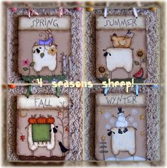 4 Seasons Sheep Designed by Terrye French