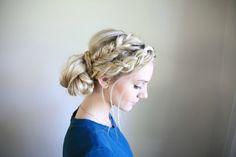 Mixed Braid Bun | Cute Girls Hairstyles