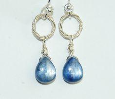 Blue Earrings  Kyanite Gemstone  Short Earrings by ELEVEN13, $35.00
