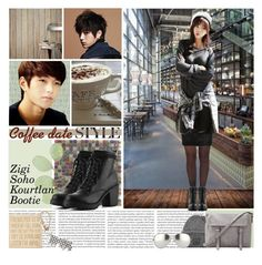 """""""Coffee Date with Myungsoo"""" by tokyotrekker ❤ liked on Polyvore featuring Pretty Polly, Oris, Aroma, Ballard Designs, West Elm, Acne Studios, Linda Farrow, Primitives By Kathy, Marc by Marc Jacobs and date"""