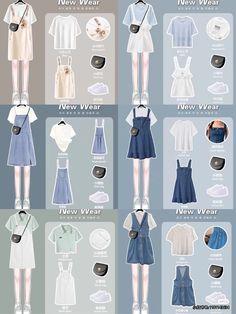 Old Fashion Dresses, Teen Fashion Outfits, Cute Fashion, Womens Fashion, Kpop Outfits, Cute Outfits, Fashion Terms, Korean Dress, Korean Fashion Trends