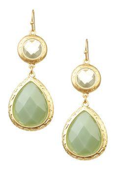 aqua stone earrings