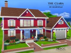 The Clara is a family home built on a 40 x 20 lot in Newcrest on the Sandy Run Lot.  Found in TSR Category 'Sims 4 Residential Lots'