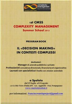 Complexity Management Summer School Italy