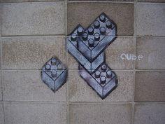LEGO brick graffiti