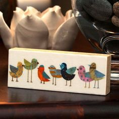 Bird Artwork - Flock No. 1 Mini Bird Art Block - product images  of