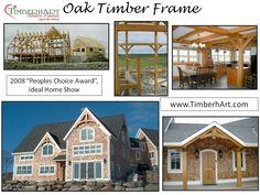 Oak Timber Frame, 2008 Peoples Choice Award, Nova Scotia Home Designers Association, Ideal Home Show
