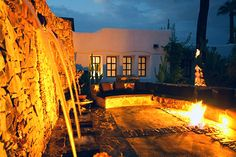 At Korakia in Palm Springs, this is what made me fall in love with fire on water in landscape design.