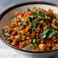 Vietnamese Lemongrass Pork Bowl - Marion's Kitchen - cook and bake - Mince Recipes, Pork Recipes, Asian Recipes, Healthy Recipes, Ethnic Recipes, Healthy Food, Kitchen Recipes, Cooking Recipes, Kitchen Cook