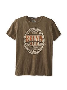 42% OFF Brooklyn Motors Men's Ale Crew Neck T-Shirt (Dirty Olive)