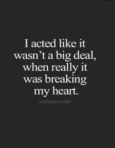 Lord knows it has! My heart is broken in ways I believe will never be whole again.
