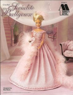 Crochet Barbie Doll Clothes Pattern Ballgown by luvinthecrafts, $6.00