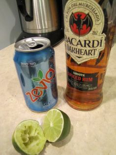 Spiced Rum, Zevia and Lime