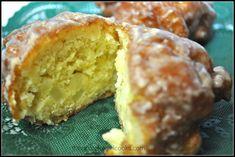 Amish Apple Fritters / The Grateful Girl Cooks! Amish Baked Oatmeal, Baked Apple Oatmeal, Baking Recipes, Cake Recipes, Dessert Recipes, Amish Apple Fritter Recipe, Apple Deserts, Cake Slicer, Easy Sweets