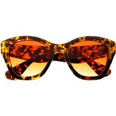 Large Retro Designer Fashion Cat Eye Sunglasses Tortoise C1630 (32 AUD) ❤ liked on Polyvore featuring accessories, eyewear, sunglasses, cat eye sunglasses, tortoiseshell cat eye glasses, tortoise cat eye sunglasses, retro glasses and tortoise shell glasses