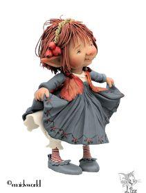Alles voor en over PSP : TUBES LIZE Enaidsworld Polymer Clay Christmas, Cute Polymer Clay, Kobold, Elves And Fairies, Fairy Figurines, Ceramic Birds, New Dolls, Fairy Dolls, Sugar Art