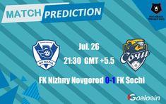 FK Nizhny Novgorod VS FK Sochi
