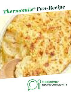 Recipe Potato Bake by brakir, learn to make this recipe easily in your kitchen machine and discover other Thermomix recipes in Side dishes. Potato Dishes, Potato Recipes, Food Dishes, Soup Recipes, Vegetarian Recipes, Side Dishes, Potato Pie, Weber Q Recipes, Baking Recipes