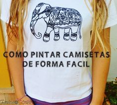 Pintar camiseta super rápido y fácil - How to paint T shirt quick and easy