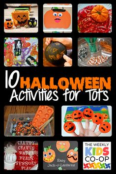 10 Halloween Activities for Tots and the Weekly Kids Co-Op 10/8