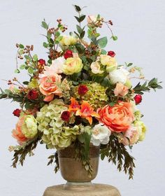 XL Silk Flower Arrangement, This Arrangement is Elegant and Extraordinary ! The… Sponsored Sponsored XL Silk Flower Arrangement, This Arrangement Large Flower Arrangements, Artificial Floral Arrangements, Silk Floral Arrangements, Faux Flowers, Silk Flowers, Beautiful Flowers, Fresh Flowers, Spring Flowers, Artificial Plant Wall