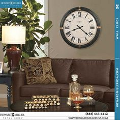 Bronze Accent Twisted Metal Ring Frame Large Wall Clock 625498 Howard Miller