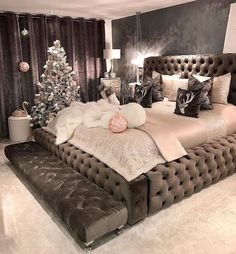 Cute Bedroom Ideas, Room Ideas Bedroom, Home Decor Bedroom, Living Room Decor, Bedroom Bed, Teen Bedroom, Master Bedroom, Cama King, Online Furniture Stores