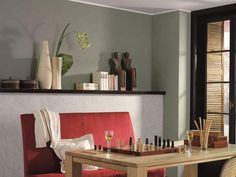 Geschmackvolle Raumgestaltung mit gedeckten Farben und Lehmputz. Gestaltung durch den Burkhard Schulte Malerbetrieb Inh. Doris Schulte e. K. in Hamm (59067) | Maler.org