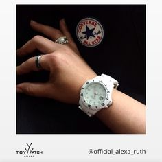 Happy Sunday to Alexa and all our fans out there! Thanks for sharing your #TWlove! Click to see more! #ToyWatch #watch #watches #style #fashion #accessories #forher #white #converse