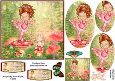 Enchanting Ballet Dreams with Oval Panels on Craftsuprint designed by Karen Wyeth - A gorgeous quick card topper with 3 additional oval panel layers for the little ballerina, a matching bunny topper, sentiment panel options and a smaller gift tag topper. 2 bonus butterflies are also included. Enjoy! xk - Now available for download!