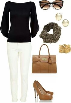 accessories complete any basic outfit! love it.