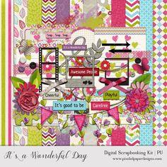 Free Digital Scrapbook Kit - It's a Wonderful Day by pixeledpaper.deviantart.com on @deviantART