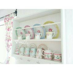 Kflowers Country style kitchen ikea stenstorp greengate cathkidston lovely kitchen floral curtains
