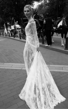 Long sleeve couture bridal gown