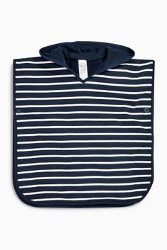Buy Navy Stripe Towelling Poncho (9mths-10yrs) from the Next UK online shop