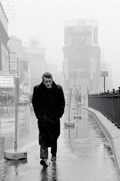 James Dean photographed by Dennis Stock, NYC, 1955