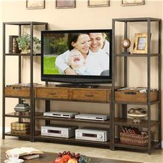 Riverside Furniture West End Entertainment Center - 5915+2x5917+8