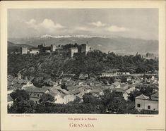 Granada, vista general de la Alhambra. Fotografía — 1905