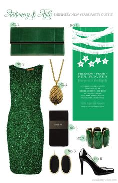 Stationery & Style: Shimmery New Years Party Outfit
