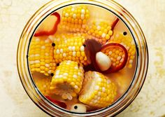 Pickled Corn:   This unexpected brined corn is a terrific foil alongside rich and smoky grilled dishes. Start at least four days ahead so that fermentation can go to work, and taste the corn for flavor as it pickles. We used Diamond Crystal Kosher Salt; other brands may result in a saltier pickle.