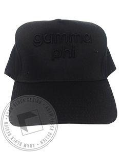 Gamma Phi Beta 3D Embroidery Hat by Adam Block Design