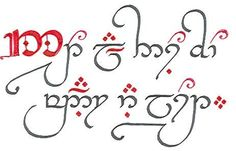 """One day I will get this tattooed. :) Haven't figured out where yet. It says """"Not all those who wander are lost."""" in Elvish."""