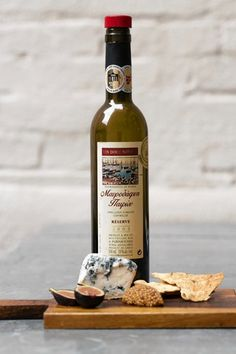 A cheese and fruit plate can be paired with Parparoussis Mavrodaphne, a Greek dessert wine....