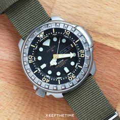 Citizen 800m Professional Diver Titanium Tuna Vintage Watch | KeepTheTime.com Vintage Dive Watches, Affordable Watches, 800m, Cool Watches, Citizen, Omega Watch, Retro, Quartz, Accessories