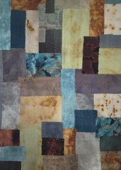 raffaela gottardelli|  slow cloth 1: rust dyed and discharged fabric, hand stitching