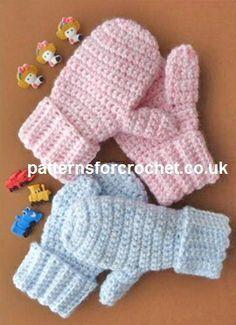 Free crochet pattern children's mittens usa