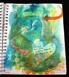 cut hearts with masking tape Art Faith Journal Art Journal Pages, Art Journaling, Heart Journal, Junk Journal, Masking Tape Art, Art Journal Inspiration, Journal Ideas, Love Collage, Altered Book Art